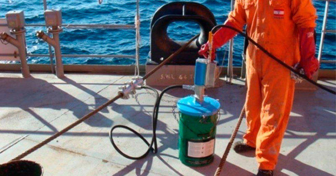 Lubrificação de cabos de aço