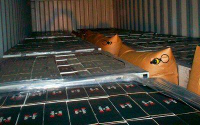 Saco inflável para container